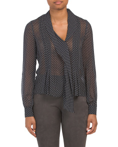 Dowa Silk Polka Dot Top