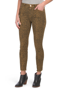 High Waist Leopard Stiletto Skinny Jeans
