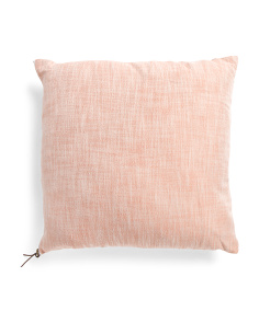 22x22 Linen Look Zipper Pillow