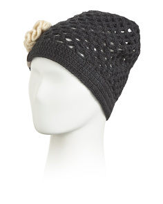 Crochet Pull On Wool Hat