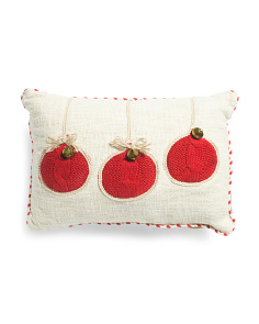 14x20 Christmas Pillow With Bells