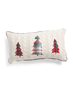 14x26 Christmas Trees Knit Pillow