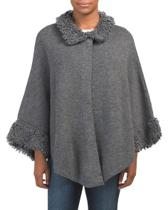 Made In Italy Poncho Sweater