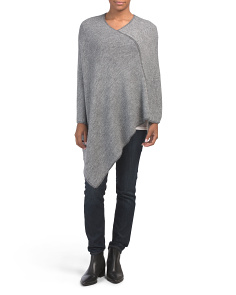 Made In Italy Melange Poncho