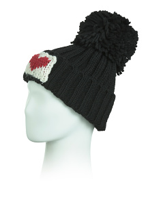 Made In Italy Yarn Pom Beanie