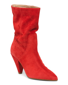 Suede Mid-calf Booties