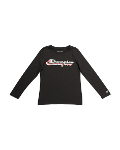 Big Girls Logo Long Sleeve Tee