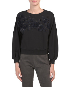 Lucinda Floral Applique Sweatshirt
