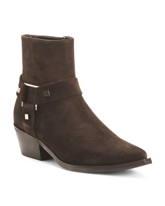 Made In Italy Western Suede Boots