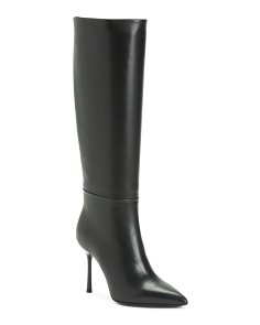 Made In Italy Leather Tall Boots