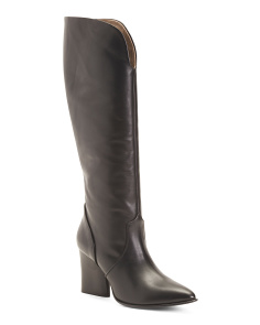 Made In Italy Tall Leather Boots