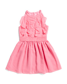 Big Girls Ruffle Chiffon Dress