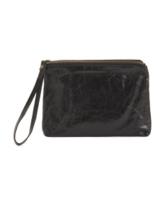 Made In Usa Leather Wristlet Clutch
