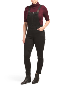 Juniors Skinny Zip Overalls