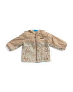 Toddler Boys Lightweight Dino Camo Jacket