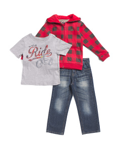 Little Boys 3pc Fleece Pant Set