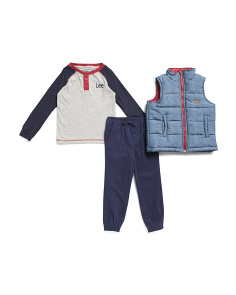 Little Boys 3pc Vest And Pant Set