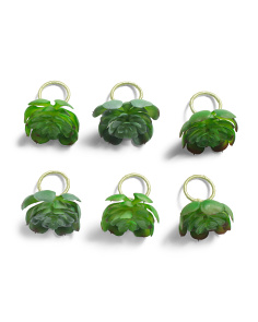 Set Of 6 Large Succulent Napkin Rings