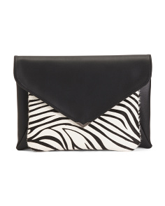 Mila 2 In 1 Leather Trim Clutch