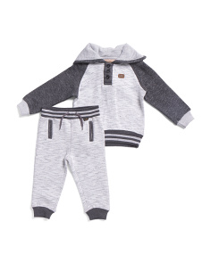 Little Boys 2pc Fleece Hoodie And Jogger Set