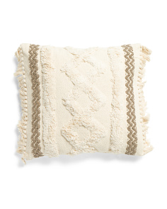 20x20 Textured And Tufted Pillow