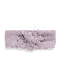Made In Italy Wool Feather Headband