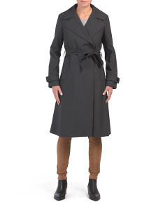 Wide Lapel Trench Coat