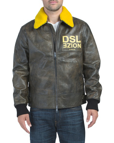 Bowdre Paint Leather Jacket