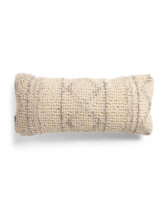 12x27 Textured Printed Pillow