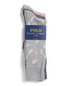 3pk Sailboat Dress Socks