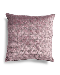 Made In Usa 22x22 Textured Cut Velvet Pillow