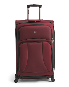 28in Softside Expandable Spinner Suitcase