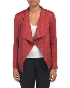 Juniors Faux Suede Open Jacket