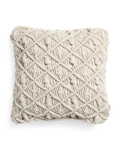 18x18 Macrame Pillow