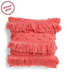 18x18 Textured Fringe Pillow