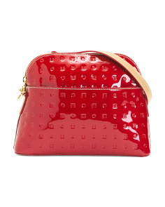Made In Italy Patent Leather Dome Crossbody