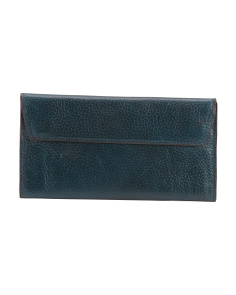 Leather Flap Front Wallet