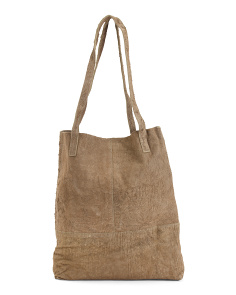 Suede King Tote