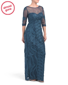 Illusion Gown With Soutache