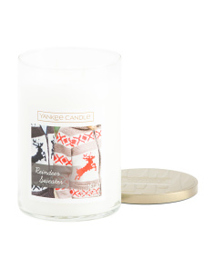 Made In Usa 20oz Jar Reindeer Sweater Candle