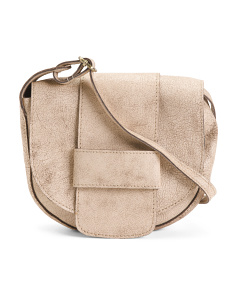 Leather Flap Front Crossbody