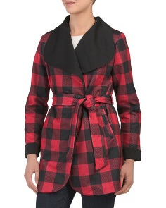 Juniors Buffalo Plaid Coat