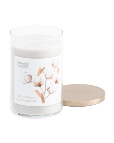 Made In Usa 22oz Cotton Flower & Sandalwood Candle