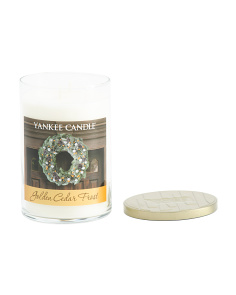 22oz Made In Usa Golden Cedar Frost Candle
