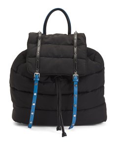 Branwen Oversized Quilted Nylon Backpack