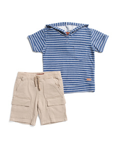 Little Boys 2pc Short Sleeve Hoodie And Shorts Set