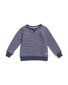 Little Boys Quilted Sweater