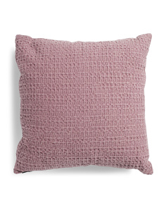 20x20 Textured Ditty Dot Pillow