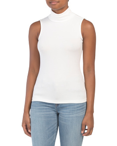 Ribbed Turtleneck Shell Top