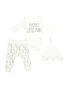 Baby 3pc Pant Set With Hat